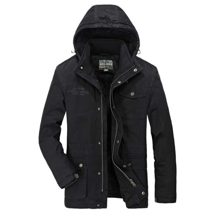 Manteau hiver grande taille homme