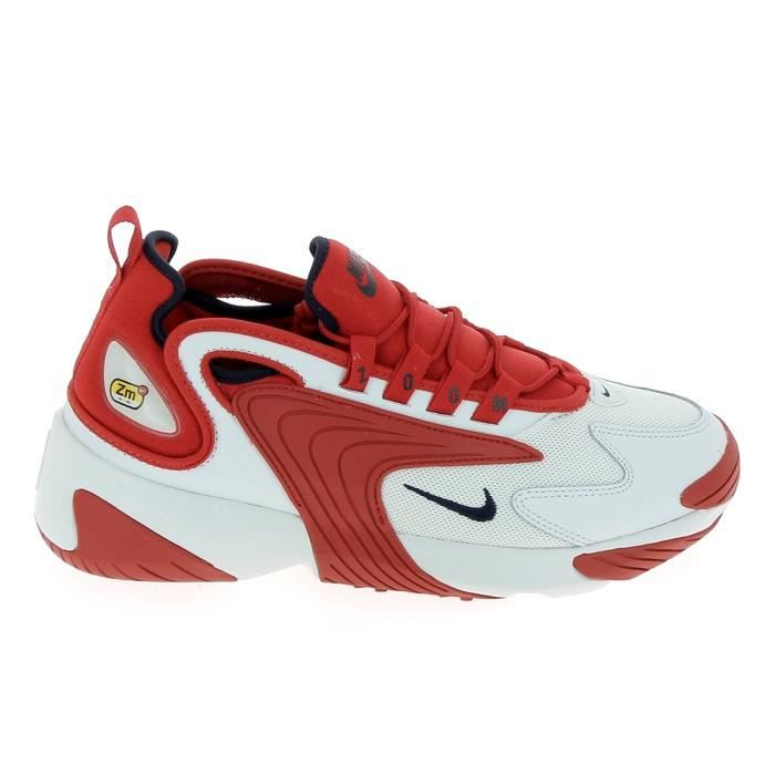 Basket mode - Sneakers NIKE Zoom 2K Blanc Rouge AO0269102 ...