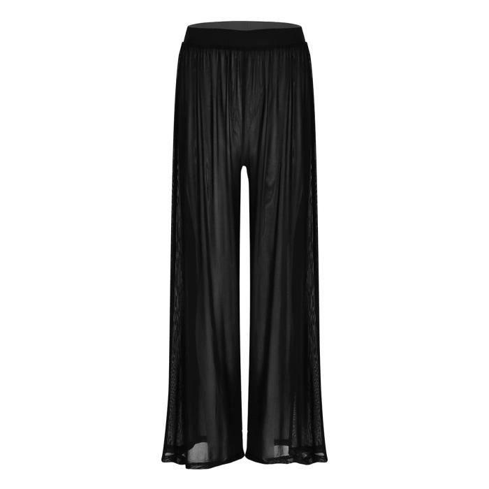 Nouveau Débardeur Uni Jambe Large Évasé Été Pantalon Pantalon Legging Pleine Longueur Palazzo