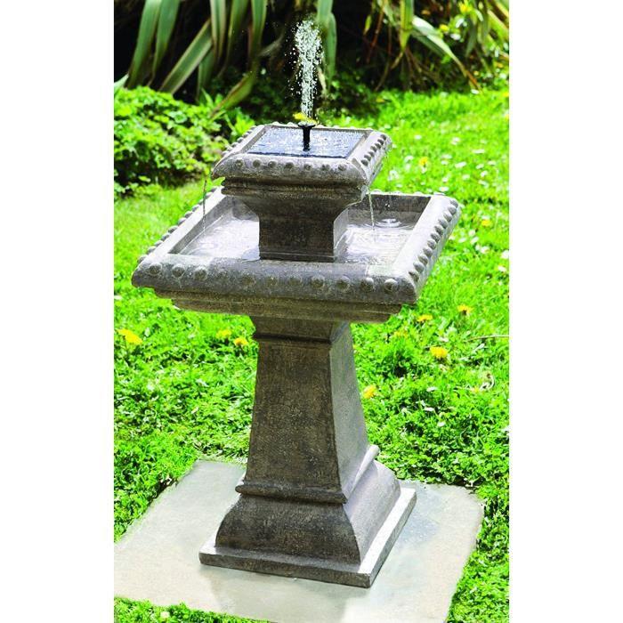 Primrose Bain d\'Oiseau Pizzaro – Fontaine Solaire Avec Lumières