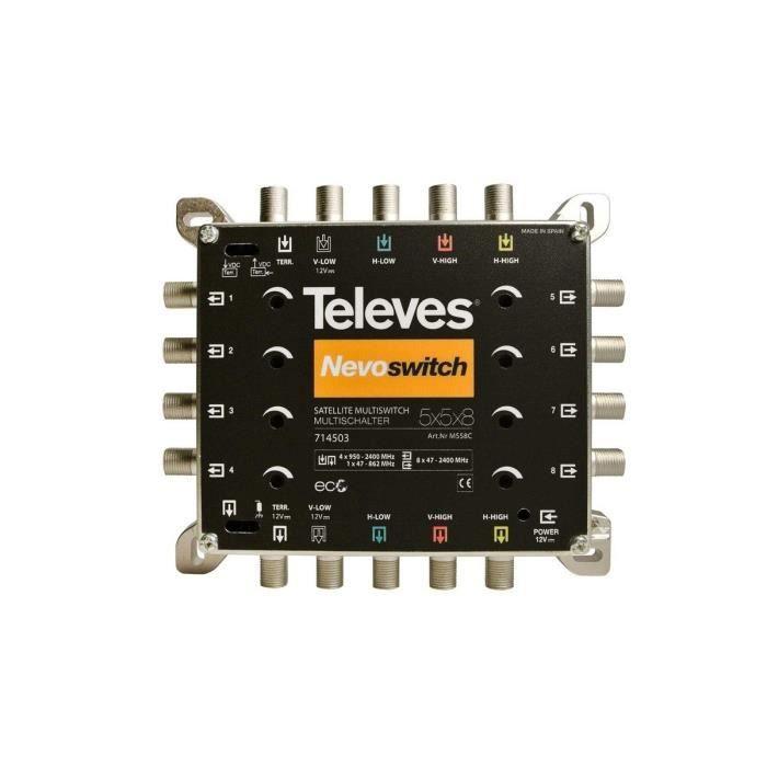 Televes 714503 Multiswitch nevoswitch 5x5x8 terminal cascada
