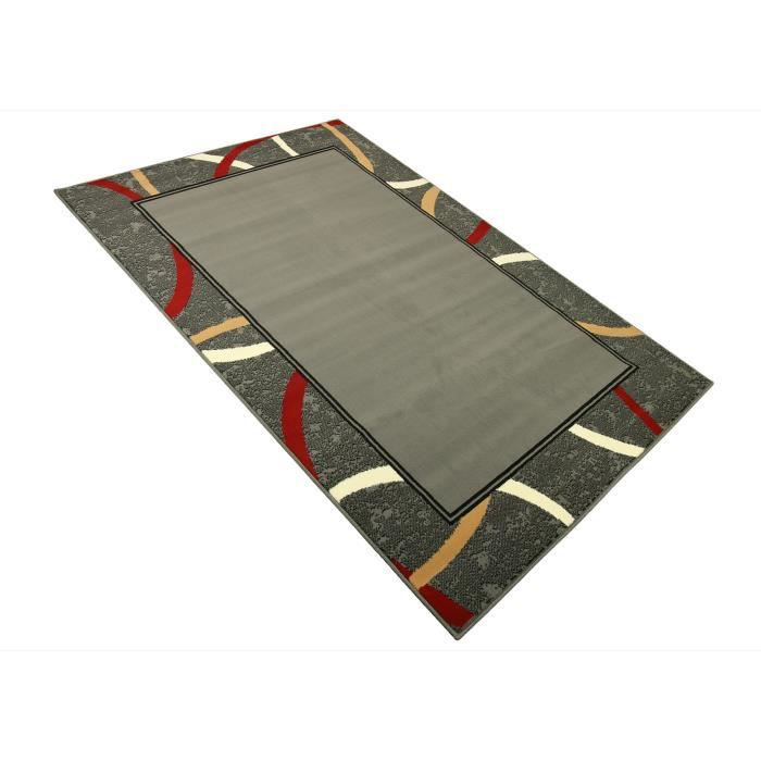 Tapis salon contemporain rectangle gris universol achat Achat tapis salon