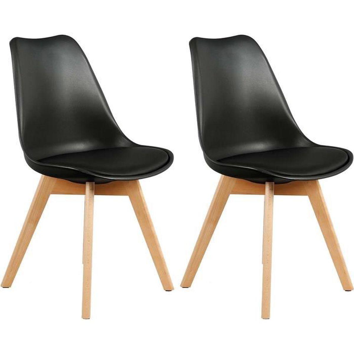 Chaise scandinave avec assise rembourrée et coque polypropylène