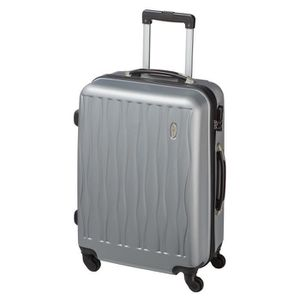 CASINO Valise trolley ABS - 65cm - 4 roues - Gris