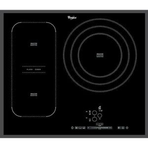 WHIRLPOOL ACM846BA - Table de cuisson ? Induction - 3 zones - 7400W - L65 x P51cm - Rev?tement verre - Noir