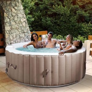 SPA COMPLET - KIT SPA Jacuzzi Gonflable Rond 4 Personnes 800L 180X180X65