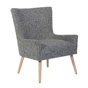 Chaise de Salle /à Manger en Tissu Gris si/ège Pieds ch/êne Clair. Furnish1 Fauteuil Style scandinave Vintage