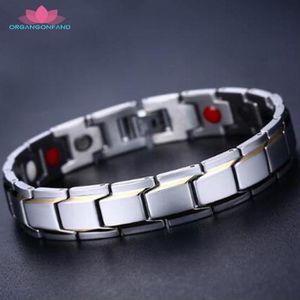 BRACELET - GOURMETTE Bijoux Bracelet homme -Bracelet à la mode or noir