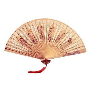 OBJET DÉCORATIF Wooden Hand Held Éventail Éventails Folding Fan Fo