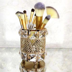 Haude 26 Trous Acrylique Organisateur de Maquillage pour Stylo Cosm/éTique Bo?Te de Rangement Stand Maquillage Pinceau Titulaire Sourcil Crayon Organisateur