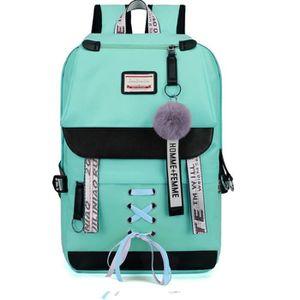 Sac /à Dos Unisexe Vintage Sac /à Dos pour Les Voyages Scolaires avec Chargement USB Vert Kaki Convient pour Un Ordinateur Portable de 15,6 Pouces Mode d/écontract/é Sac /à Dos /étanche