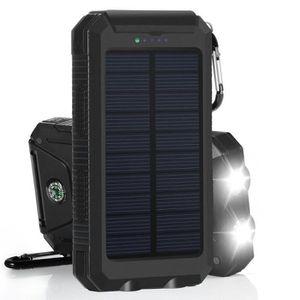 BATTERIE EXTERNE Chargeur de Batterie Solaire Power Bank chargeur C