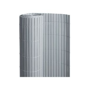CLÔTURE - GRILLAGE Canisse PVC double face Gris 6 m - 2 rouleaux de 3