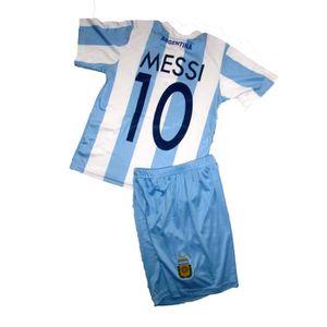 TENUE DE FOOTBALL ENSEMBLE MAILLOT DE FOOT ARGENTINE N°10 MESSI ENFA