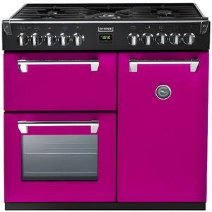 CUISINIÈRE - PIANO Cuisinière grande largeur STOVES PRICH90DFRPE rose