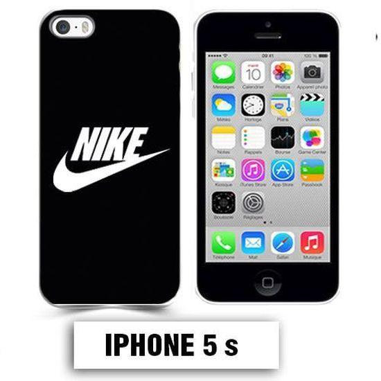 Coque iphone 5 5S logo Nike noir