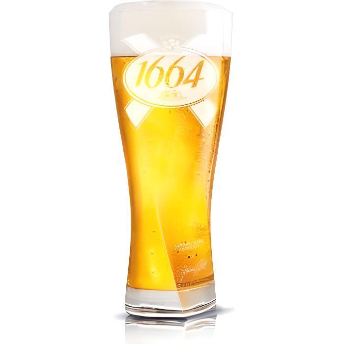 lots de 6 verre 1664 25 cl