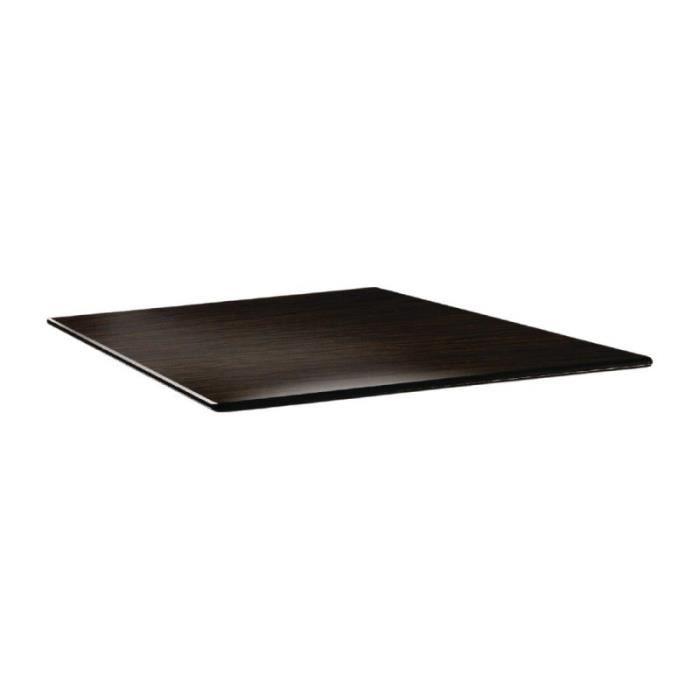 Plateau de table carré wengé 80 cm