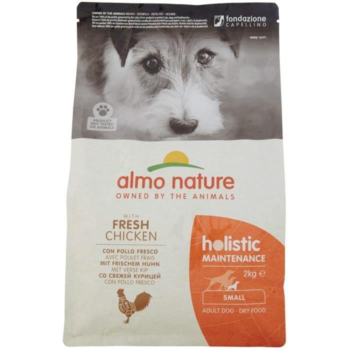 Nourriture pour chiens almo nature Nourriture pour Chien Holistic Small avec Poulet et Riz 2 kg 35945