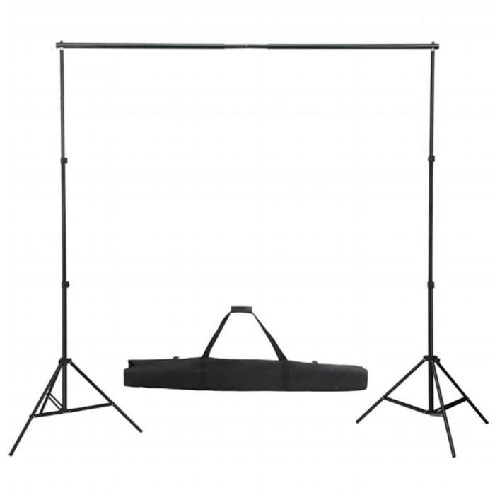 ��8850 Système de toile de fond télescopique - Photo Studio Kit de support pour toile de fond - FOND DE STUDIO -155-300 cm