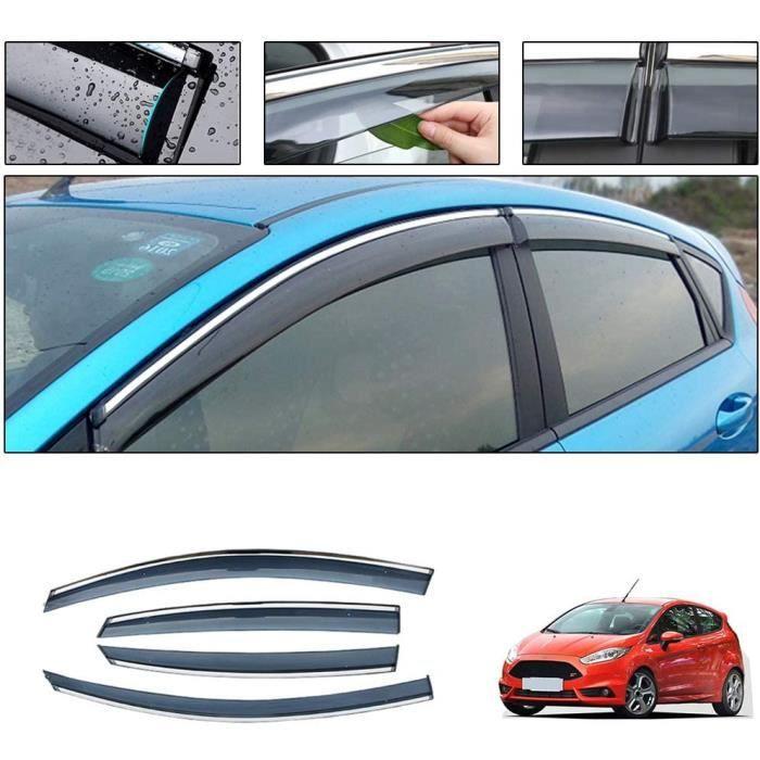 Deflecteurs d'air pour F ord Fiesta Hatchback 2010-2018 Déflecteurs de Vent Fenêtre Visière Pare-Soleil Pare-Pluie Pare-fumée P 1047