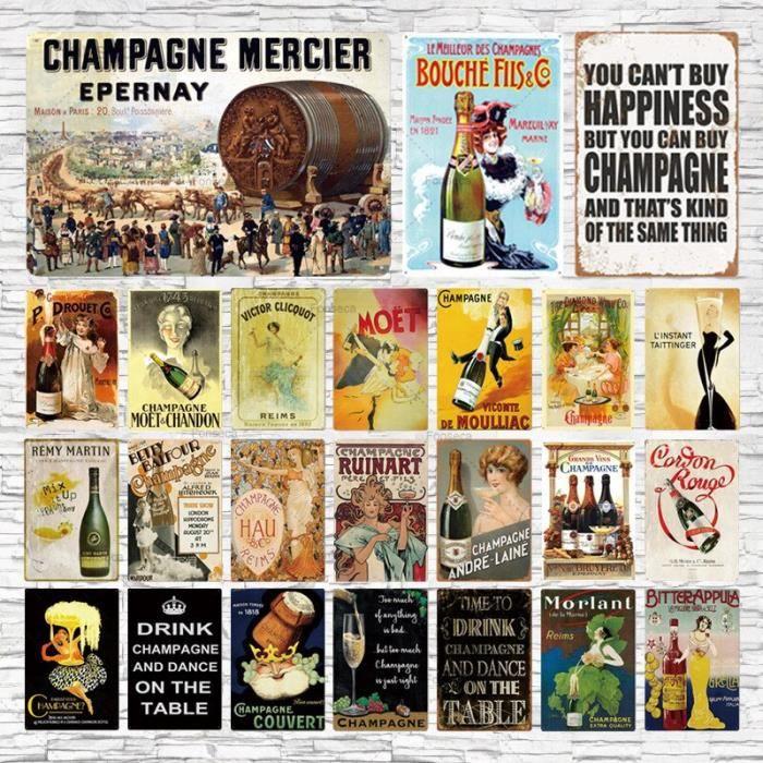 Affiche de bière en métal Vintage, champagne, Plaque de vin, décoration de Bar, café, Club, Eisen, Club~twl024 GF10993