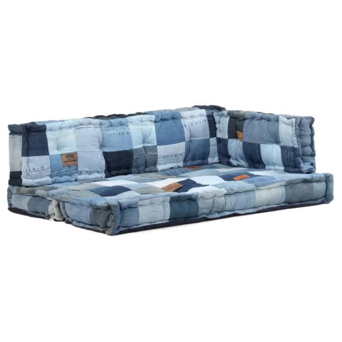 3024Pro® Lot de 3 Coussins de canapé de jardin Bain De Soleil chaise longue Matelas Transat Moderne- COUSSIN D'EXTÉRIEUR Galettes Ch