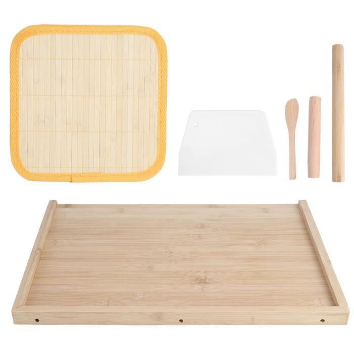 Planche à pâte de coupe-pâte, plan de travail en bambou rouleau à pâtisserie planche à découper alimentaire planche à
