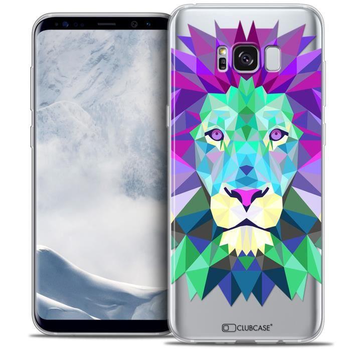 Coque Gel Samsung Galaxy S8+/ Plus (G955) Extra Fine Polygon Animals - Lion