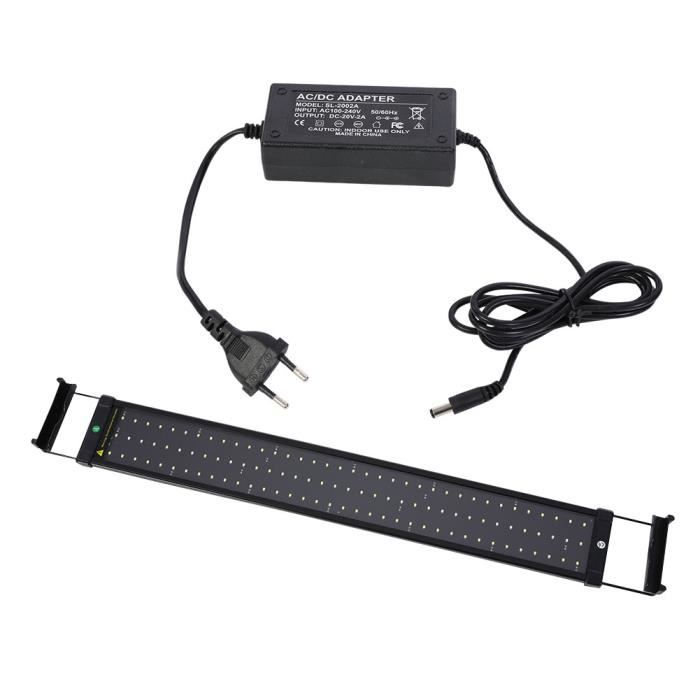 SOULONG Lampe Aquarium LED Extensible Lampe Rampe LED RAIr Aquarium Réglable Éclairage Aquarium 110V - 240V 8500K Lumière RAIr Po