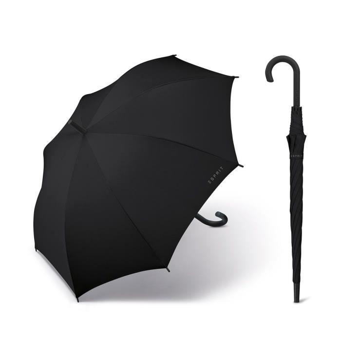 Esprit - Parapluie canne droit automatique femme Long AC black 50001 taille 86 cm