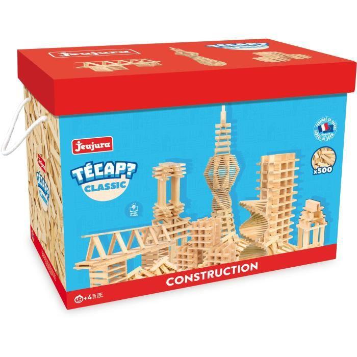JEUJURA Tecap ? Classic - 500 planchettes en bois - jeu de construction