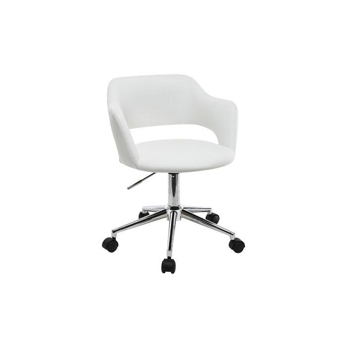 Miliboo - Fauteuil de bureau design blanc JESSY
