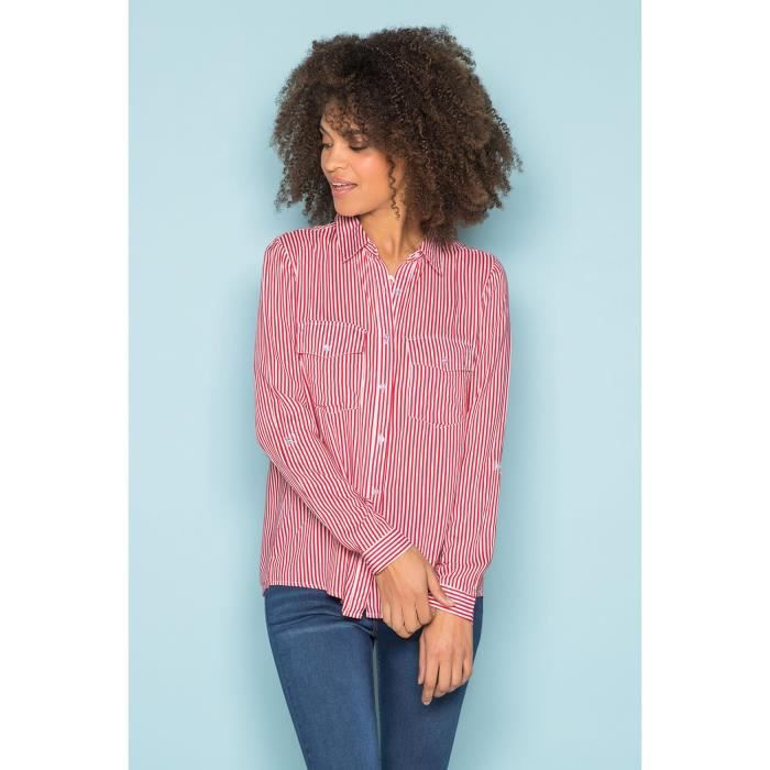 Chemise rayée avec poches poitrine - ILDIA