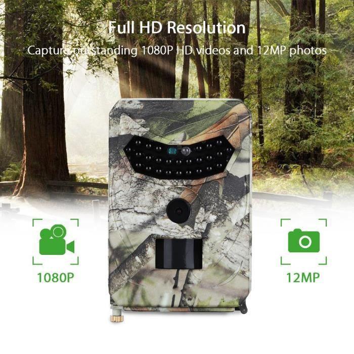 Camera de Chasse 1080P Caméra de Surveillance Étanche 26pcs IR LEDs Vision nocturne 15M Surveillance Camera