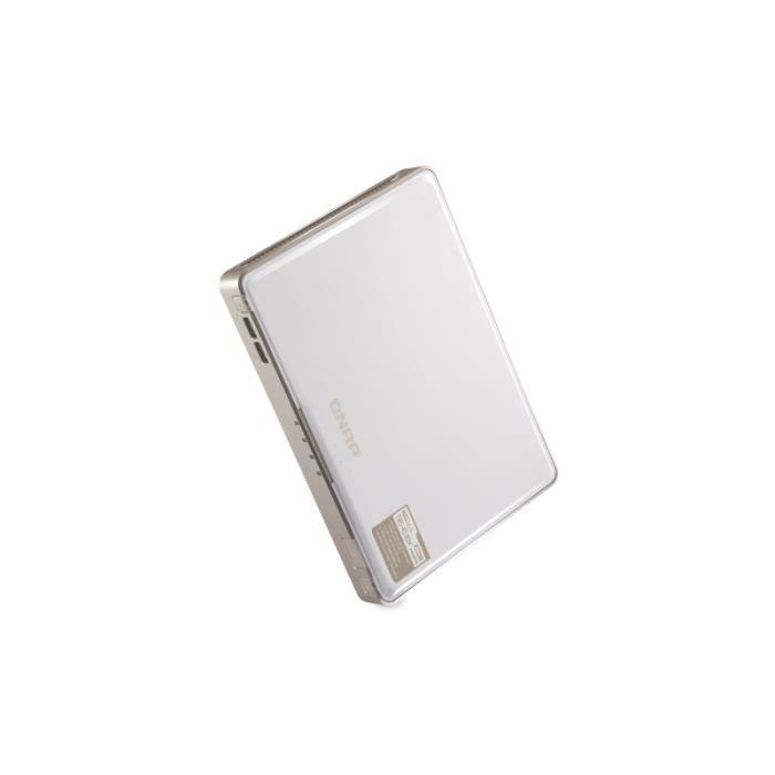 QNAP TBS-453DX-8G serveur de stockage Ethernet/LAN Compact Blanc NAS