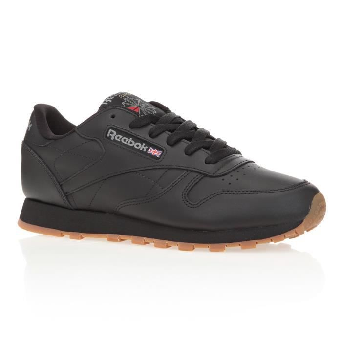 REEBOK Baskets Classic Leather - Femme - Noir
