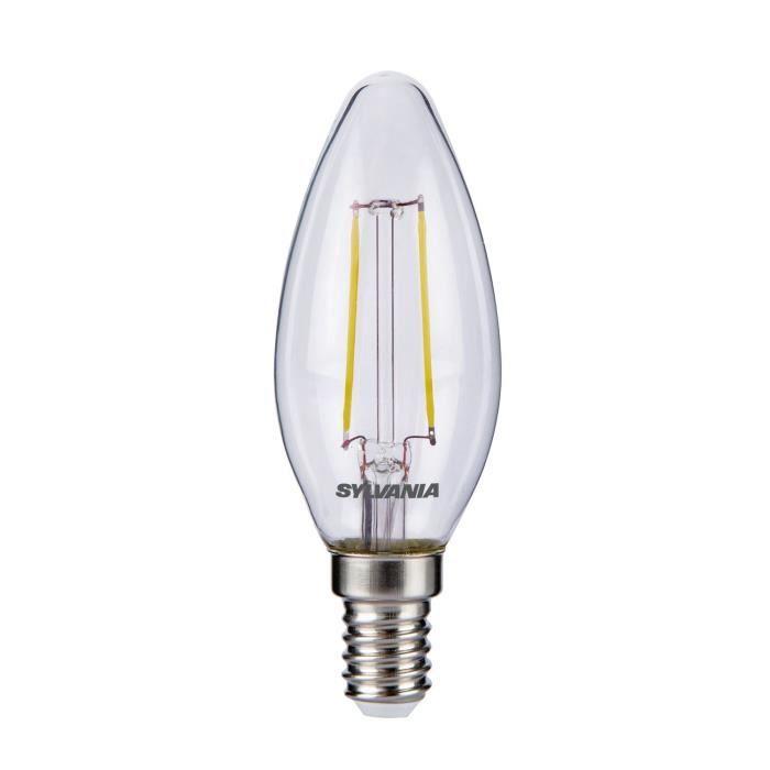 SYLVANIA Ampoule LED RETRO Filament Flamme E14 25W