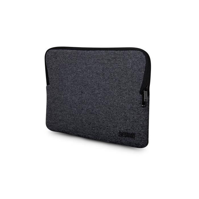 Urban Factory - Housse de protection noire avec mémoire de forme pour Macbook Pro 13''