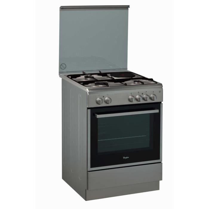 Cuisinière mixte 60cm WHIRLPOOL ACMK6433IX