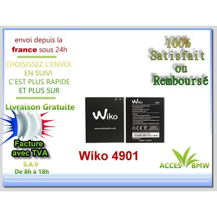 Originale Batterie Wiko 4901 Pour Tommy 2 NEW