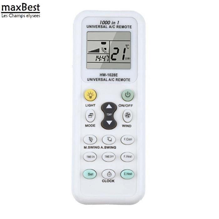 TÉLÉCOMMANDE DOMOTIQUE  1pc blanc universel LCD A / C multi télécommande c