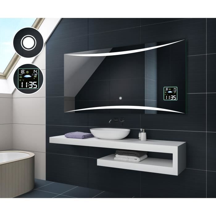 artforma illumination led miroir eclairage salle de bain l78 120x60cm interrupteur tactile. Black Bedroom Furniture Sets. Home Design Ideas