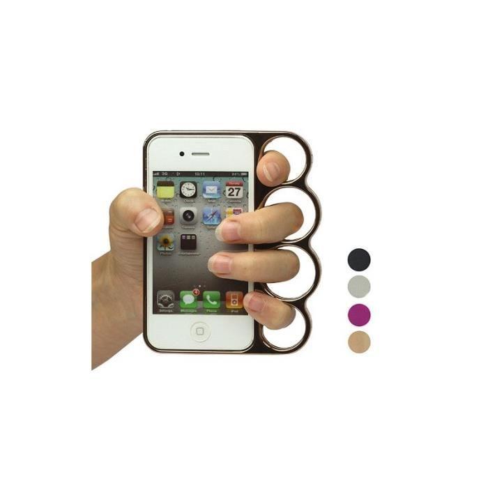 Coque Coup de Poing Américain pour iPhone 4/4S - Cdiscount Téléphonie