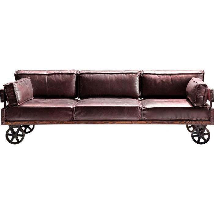 canape railway 3 places kare design achat vente canap. Black Bedroom Furniture Sets. Home Design Ideas