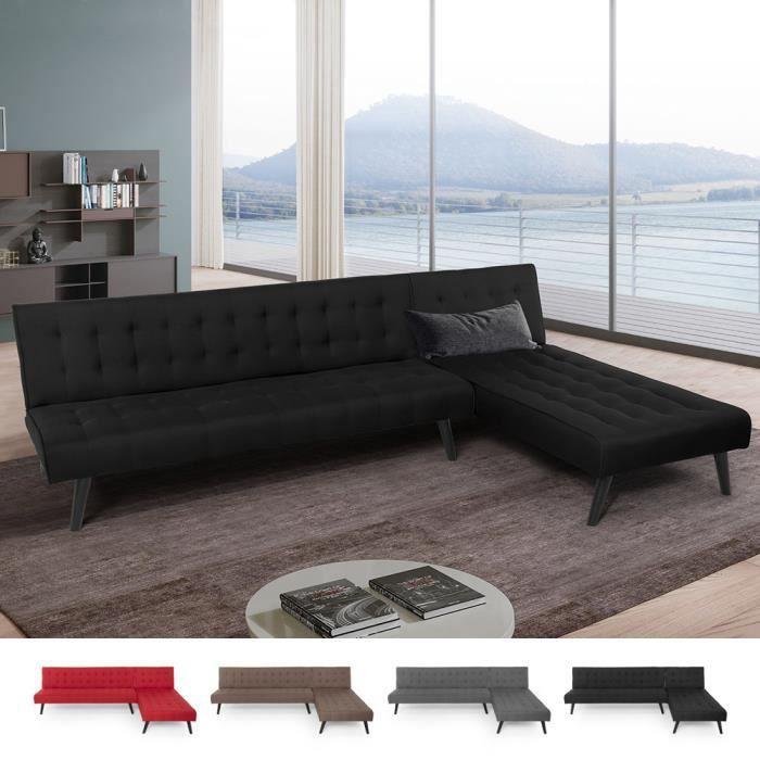 3 Position Moderne Canapé Lit Salle à Manger Chambre Tissu Cuir Click Clack en