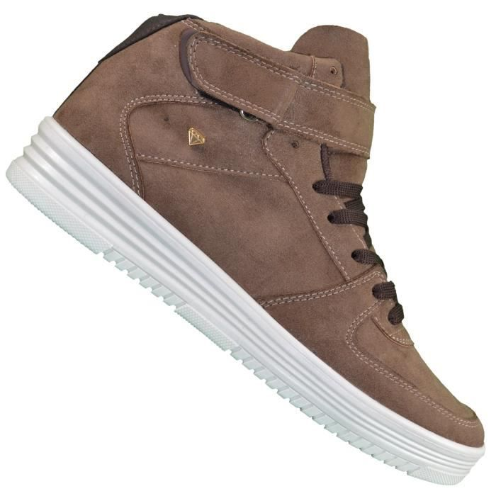 Cash Money - Baskets Montantes - Homme - Cms 33 Stock - Taupe