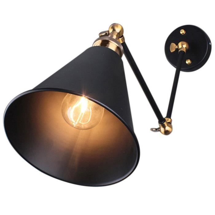 retro industriel edison simplicite applique lampe murale. Black Bedroom Furniture Sets. Home Design Ideas