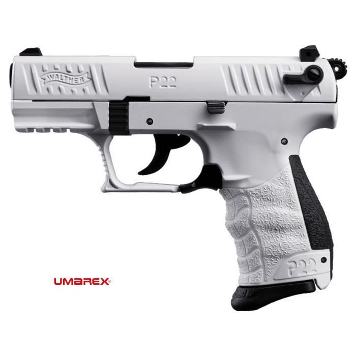 Walther p22q white arme de d fense cal 9mm p a k achat for Arme defense maison
