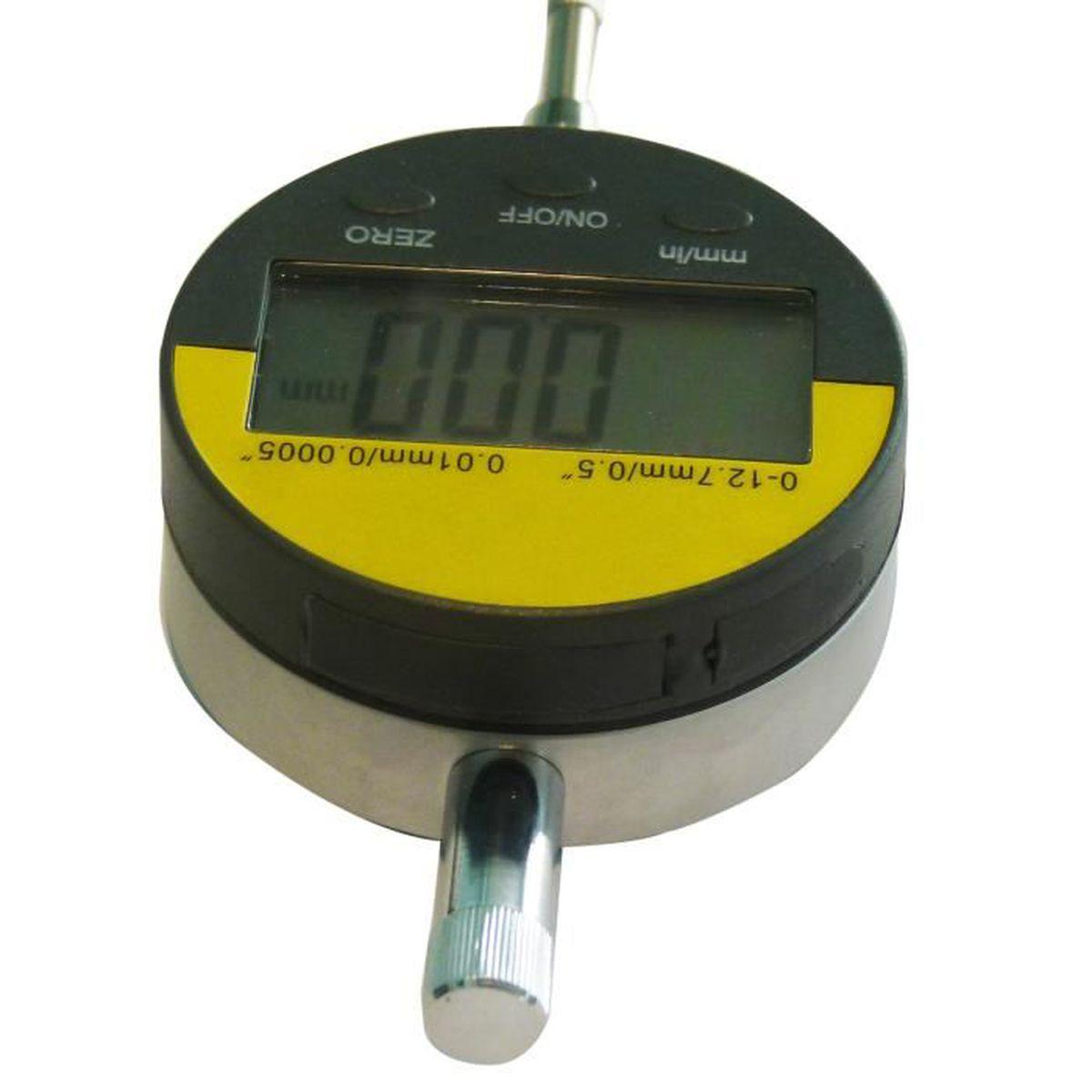 lecture 0.8//0.01 m Horizontal Indicateur à levier course 0.8mm Cadran ø 28 mm
